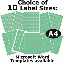 GREEN Laser Copier Inkjet Printer Labels 5 A4 Sheets Self-Adhesive Stickers
