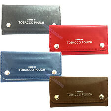 Soft PU Leather Tobacco Pouch Rizla Slot Pouch Fully Lines Tobacco Pouch Purse