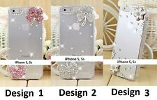 LUXUS STRASS CASE FÜR APPLE IPHONE 5 / 5s HÜLLE TRANSPARENT COVER