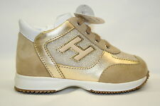 Scarpe HOGAN Junior New Interactive Lace Up H Flock Oro