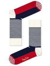 Happy Socks - Half Stripe Sock Socken - blau weiß