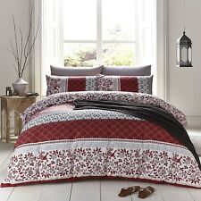 CATHERINE LANSFIELD NEW ORIENTAL BIRDS FLORAL SPICE RED DUVET QUILT COVER SET