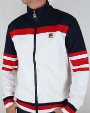 Fila Vintage Vilas Courto Track Top in White, Red & Navy - jacket Dyer casual 80