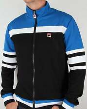 Fila Vilas Courto Track Top in Black, Blue & White - tracksuit jacket Dyer 80s