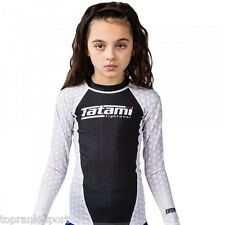 TATAMI KIDS IBJJF RANK WHITE RASH GUARD : RASHGUARD MMA GRAPPLING  JIU-JITSU