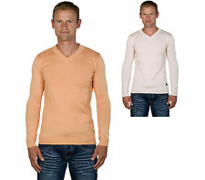 Ugholin - Pull Homme Fin Col V Fin Manches Longues Massimo