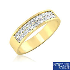 0.28Ct Natural White Diamond Band Ring 14k Hallmarked Gold Ring Engagement Ring