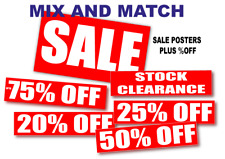 Sale posters and Salesigns with %off 14 poster pack you choose