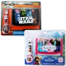 Disney Frozen Star Wars Regalo Set Niños Monedero Cartera Pulsera