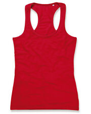 Ladies Active Tank Top , stretchy fabric. Racer back style. Ladies Vest Top