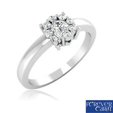 0.26 Ct Certified Natural White Diamond Ring 14K Hallmarked Gold Jewellery