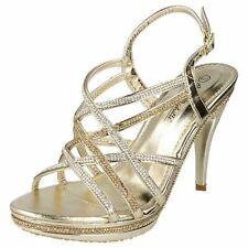 da donna color oro Anne Michelle Strass Tacchi UK Sizes 3 - 8 f10457