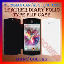 ACM-LEATHER DIARY FOLIO FLIP CASE for MICROMAX CANVAS SELFIE A255 MOBILE COVER