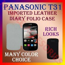 ACM-IMPORTED RICH LEATHER DIARY FOLIO FLIP CASE for PANASONIC T31 MOBILE COVER