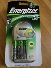 Energizer Base Charger for AAA AA Includes 4 AA 1300mAh Rechargeable Batteries