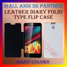 ACM-LEATHER DIARY FOLIO FLIP CASE for IBALL ANDI 5K PANTHER MOBILE FULL COVER