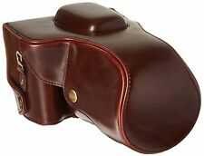 "MegaGear ""Ever Ready"" Protective Brown Leather Camera Case Bag for Canon EOS ..."