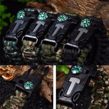 Paracord Armband Survival Outdoor Camping Flint Feuer Schaber Pfeife Notfall