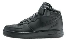SCARPE NIKE AIR FORCE 1 MID 315123 001 SNEAKERS UOMO LEATHER TOTAL BLACK
