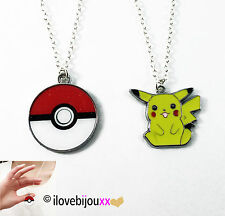 COLLANA Pokemon Go PIKACHU POKEBALL sfera Ash catena ciondolo Argento Regalo Top