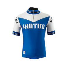 Santini Tech Wool Heritage Short Sleeve Jersey SS14 Light Blue