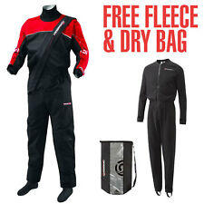 Crewsaver Cirrus Drysuit 2017 - Black/Red - FREE FLEECE & DRY BAG