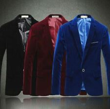 Mens slim fit blazer suit coat jacket+Slim Tie+Pocket Square+Hanger+Cover