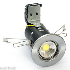 LED Fire Rated Downlight 5 Watt ( COB ) Dimmable Pressed COOL or WARM WHITE