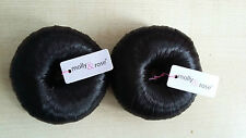 2no Bun Shaper Do nut Hair Covered bun Ring, Browns Black and Ginger