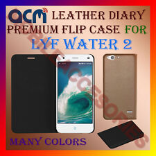ACM-LEATHER PREMIUM FLIP FLAP CASE for LYF WATER 2 MOBILE FRONT/BACK FULL COVER