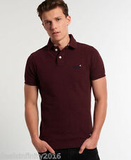 Super Dry Classic Pique Polo Shirt- RUSTY RED GRINDLE