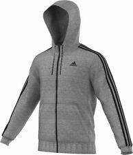 adidas Herren Kapuzenjacke Ess 3S Light FZ Hoodie - Cote Heather / Black