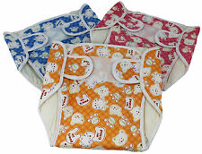 Mum's World Washable Diapers Velcro Nappy Set of 3 Waterproof Nappy