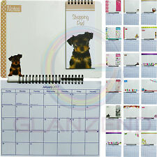 2017 Memo Board Calendar Write-On Wipe-Off Pen Shopping Pad Hangigng Family Note