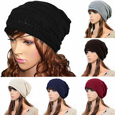 Women/ Girls Knittng Crochet Baggy Slouch Caps Winter Warm Beanie Hats Ski Caps