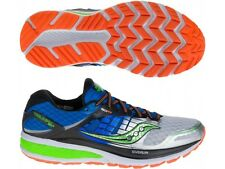 Saucony Mens Triumph Iso 2 Running Trainers S20290-1 Blue/Silver/Green UK Sizes