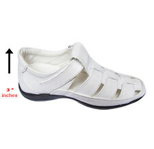 White Elevator Sandal For Men – White Color Sandals Increase Height upto 7.62 CM