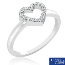 Certified 0.09 Ct Round Diamond Ring 92.5 Sterling Silver Ring Women Jewellery