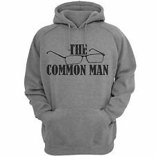 Gray ( Common Man ) Printed Hooded Sweatshirt | Mens Hoodie | Gray SweatShirts