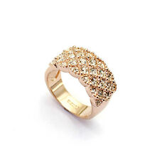 18K Rose Gold Plated Band/Ring Made W/ Swarovski Element Crystals (R730-35)