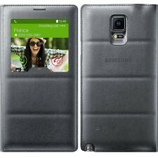 New 100 % S-View Sensor SAMSUNG GALAXY NOTE 4 N9100 LEATHER FLIP COVER CASE