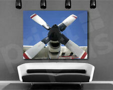USCG Lockheed Turbo Propeller Art Canvas Poster Print Home Decor