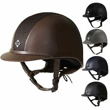 Charles Owen AYR8 Fau Leather Horse Riding Dressage Showing Safety Helmet PAS015