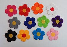 ** Flower patches > pretty colours > embroidered > iron on or sew on **