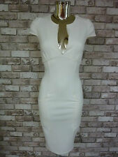 BNWOT ASOS WHITE BODYCON SPLIT NECK PENCIL DRESS SOLD OUT!! SIZES 8, 14