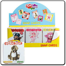 Snap Cards In Tin Box Pirates Monsters Fairy Tale Animals Children Kids Play Fun