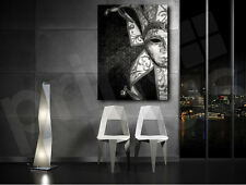 Venetian Mask Black and White Detail Canvas Art Poster Print Home Wall Decor