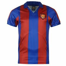 FC Barcelona 1992 Home Jersey Score Draw Mens Retro Football Soccer Top Shirt