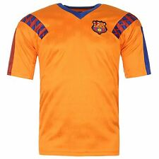 FC Barcelona 1992 Away Jersey Score Draw Mens Orange Retro Football Soccer Shirt