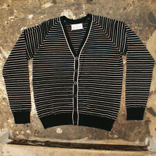 NEW Maison Martin Margiela Black/White Striped Cardigan GENUINE